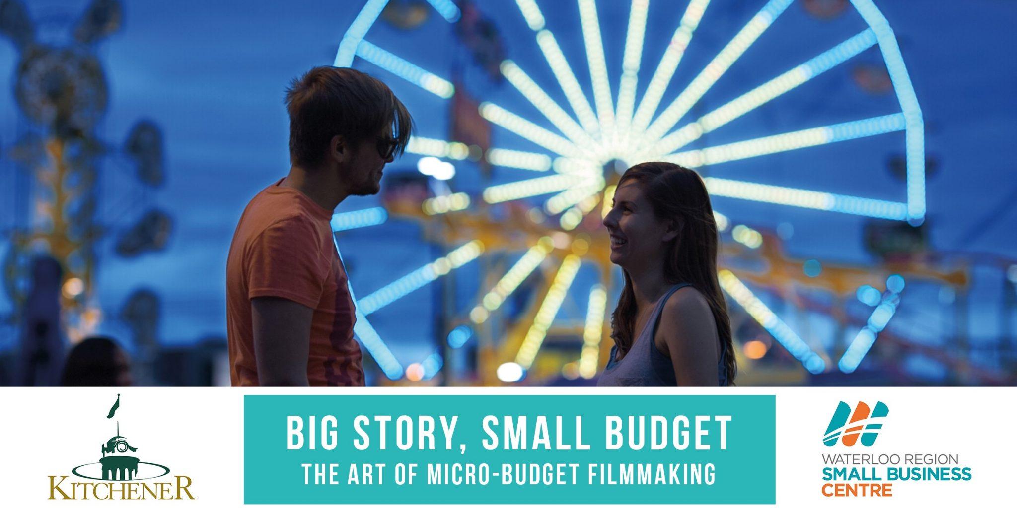 Micro-Budget Filmmaking Workshop, City of Kitchener, Waterloo Region Small Business Centre, Ava Torres, Helmann Wilhelm, Film, Kitchener Public Library, KPL